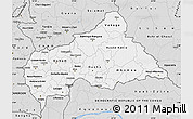 Silver Style Map of Central African Republic
