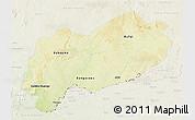 Physical 3D Map of Mbomou, lighten