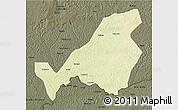 Physical 3D Map of Bangassou, darken