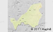 Physical 3D Map of Bangassou, desaturated