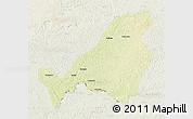 Physical 3D Map of Bangassou, lighten