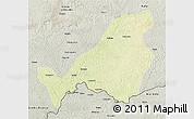Physical 3D Map of Bangassou, semi-desaturated