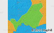 Political 3D Map of Bangassou