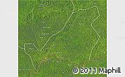 Satellite 3D Map of Bangassou
