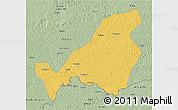 Savanna Style 3D Map of Bangassou