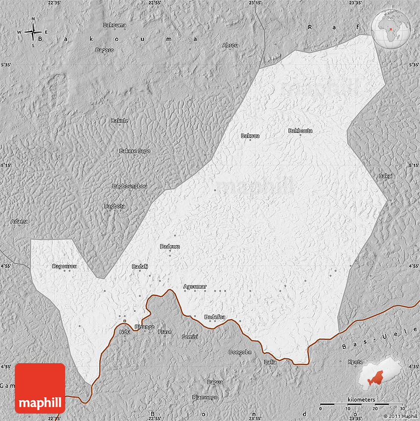 Gray Map of Bangassou
