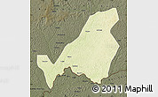 Physical Map of Bangassou, darken