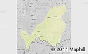 Physical Map of Bangassou, desaturated