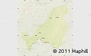 Physical Map of Bangassou, lighten