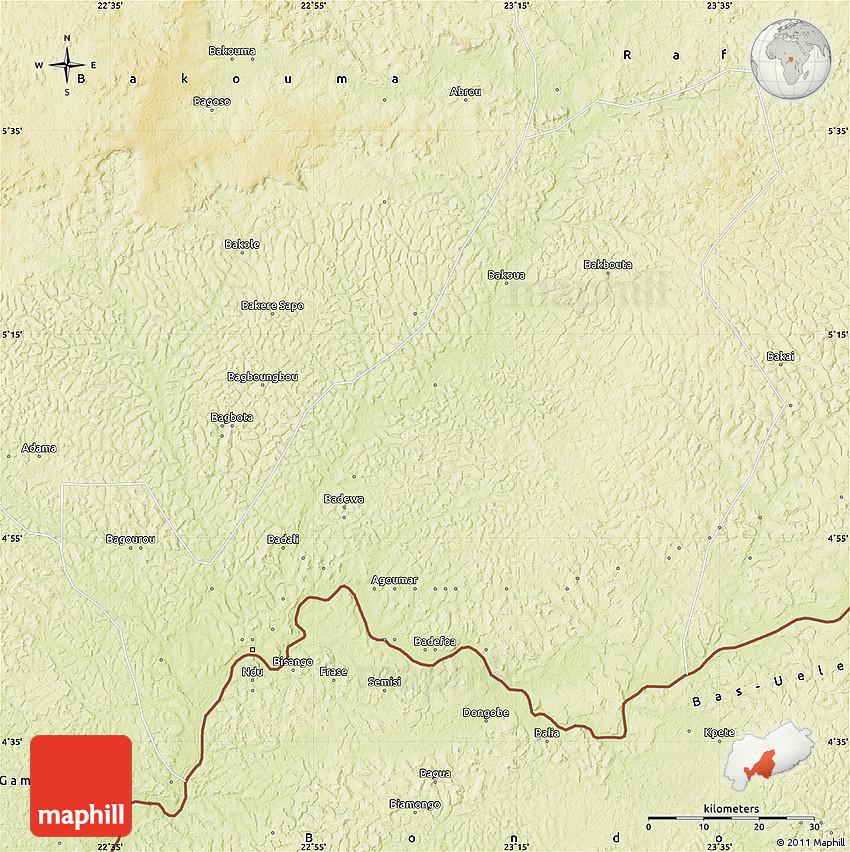 Physical Map of Bangassou