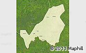 Physical Map of Bangassou, satellite outside
