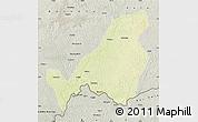 Physical Map of Bangassou, semi-desaturated