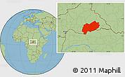 Savanna Style Location Map of Mbomou