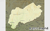Physical Map of Mbomou, darken