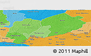 Political Shades Panoramic Map of Mbomou