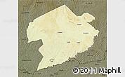 Physical 3D Map of Rafai, darken
