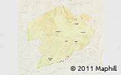 Physical 3D Map of Rafai, lighten