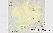 Physical 3D Map of Rafai, semi-desaturated