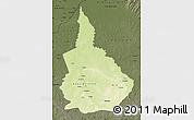 Physical Map of Nana-Gribingui, darken