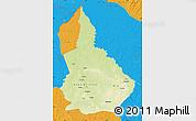 Physical Map of Nana-Gribingui, political outside