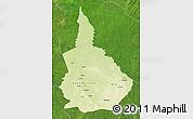 Physical Map of Nana-Gribingui, satellite outside
