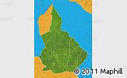 Satellite Map of Nana-Gribingui, political outside