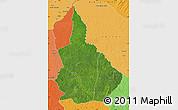 Satellite Map of Nana-Gribingui, political shades outside