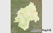 Physical 3D Map of Ouaka, darken