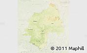 Physical 3D Map of Ouaka, lighten
