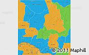 Political 3D Map of Ouaka