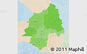 Political Shades 3D Map of Ouaka, lighten
