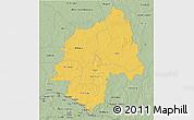 Savanna Style 3D Map of Ouaka