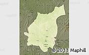 Physical Map of Bakala, darken