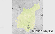 Physical Map of Bakala, desaturated