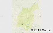 Physical Map of Bakala, lighten