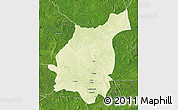 Physical Map of Bakala, satellite outside