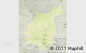Physical Map of Bakala, semi-desaturated