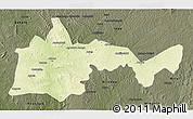 Physical 3D Map of Bambari, darken