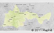 Physical 3D Map of Bambari, desaturated