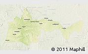 Physical 3D Map of Bambari, lighten