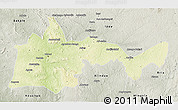 Physical 3D Map of Bambari, semi-desaturated