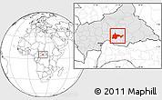 Free Blank Location Map of Bambari