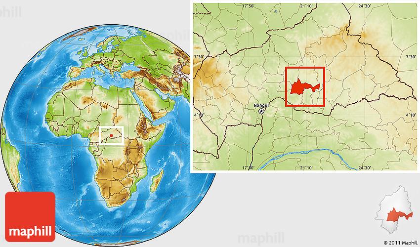 Physical Location Map of Bambari