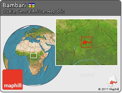 Satellite Location Map of Bambari