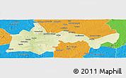 Physical Panoramic Map of Bambari, political outside