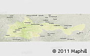 Physical Panoramic Map of Bambari, semi-desaturated