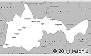 Gray Simple Map of Bambari