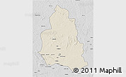 Shaded Relief 3D Map of Ippy, desaturated