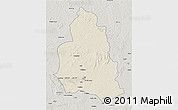 Shaded Relief 3D Map of Ippy, semi-desaturated