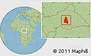 Savanna Style Location Map of Ippy